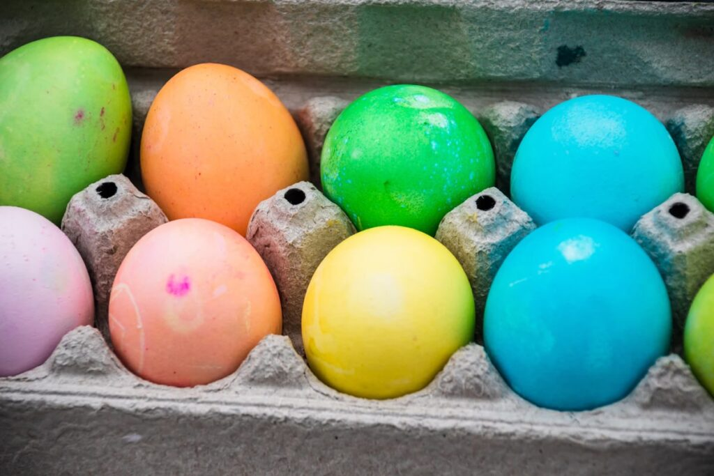 Dye colored eggs