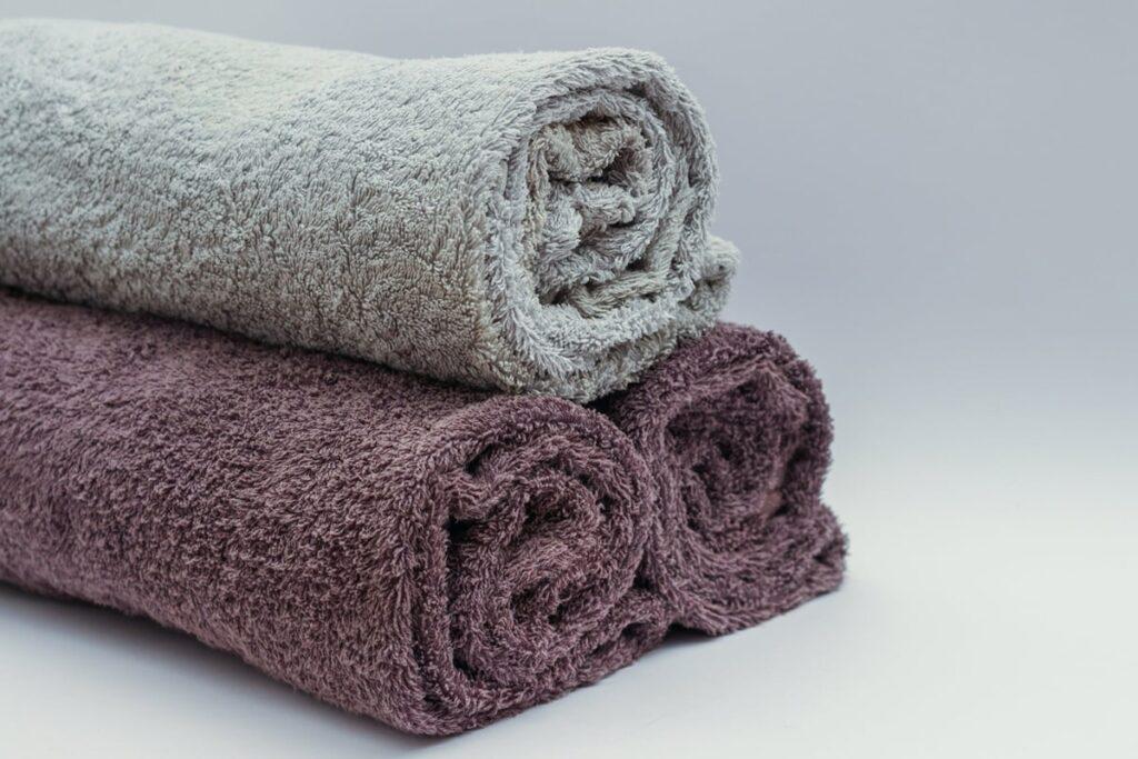 Three color grey towel