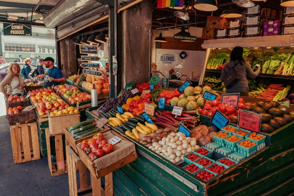 Local vegetables and fruits market