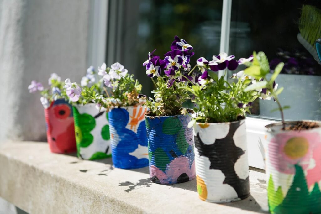 Recycle flower pots